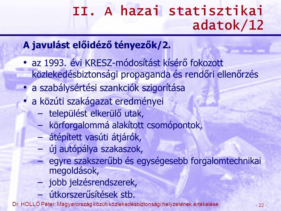 II. A hazai statisztikai adatok/12