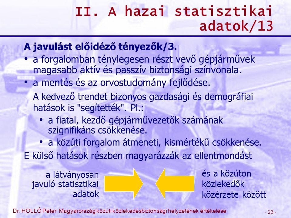 II. A hazai statisztikai adatok/13