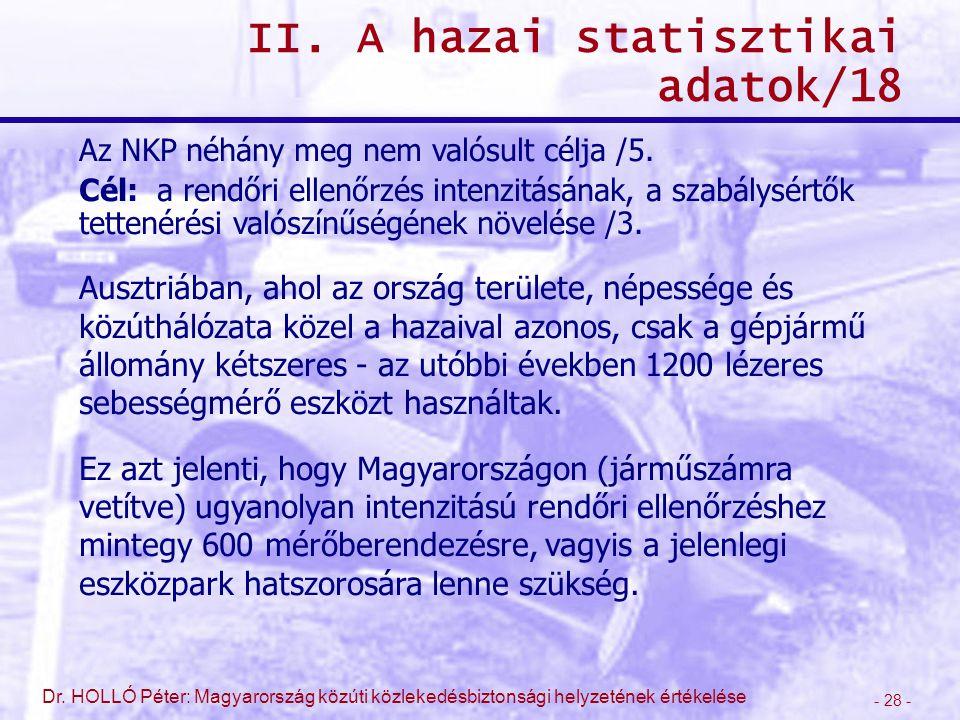 II. A hazai statisztikai adatok/18