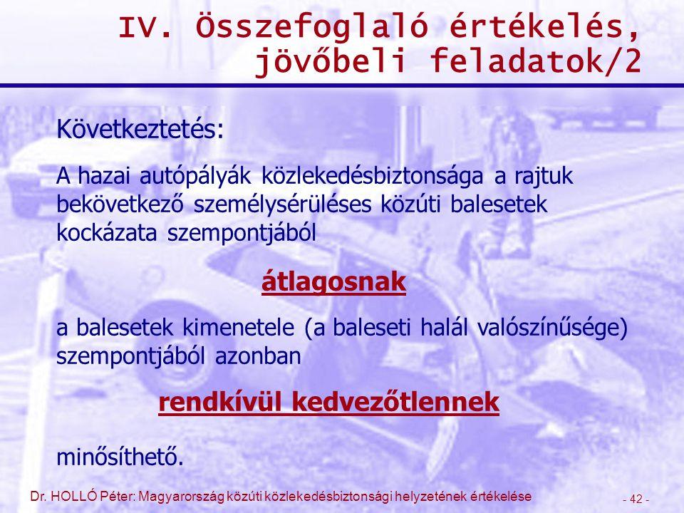 IV. Összefoglaló értékelés, jövőbeli feladatok/2
