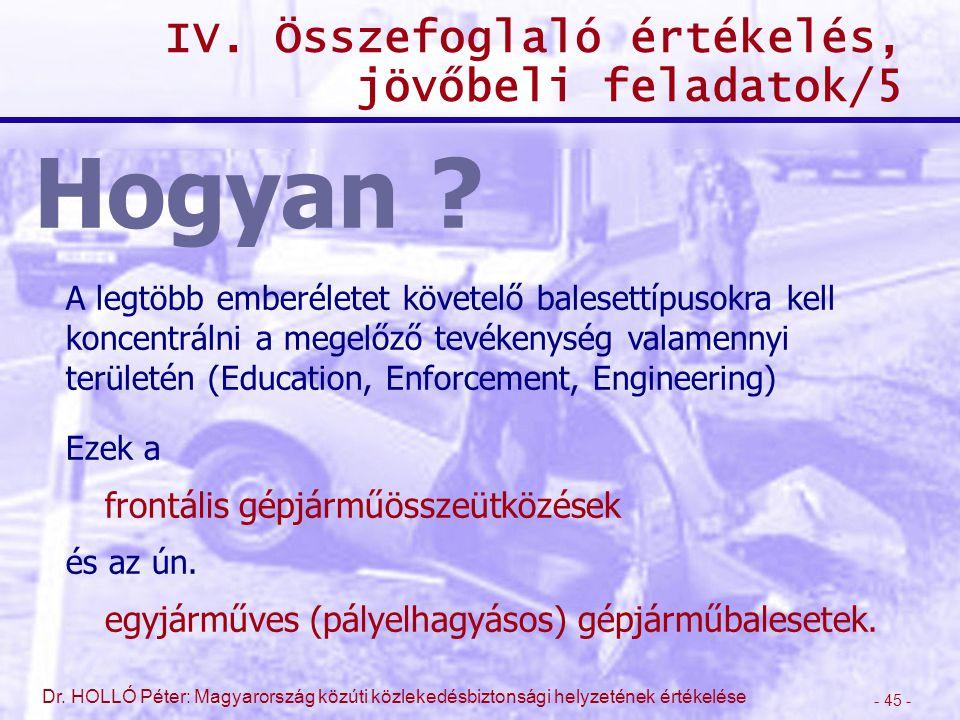 IV. Összefoglaló értékelés, jövőbeli feladatok/5