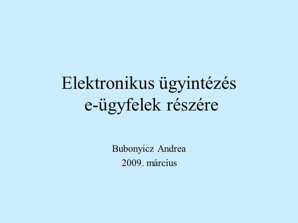 Elektronikus ügyintézés e-ügyfelek részére