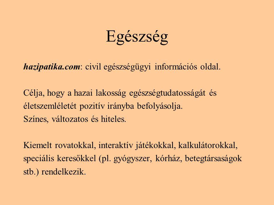 Egészség hazipatika.com: civil egészségügyi információs oldal.