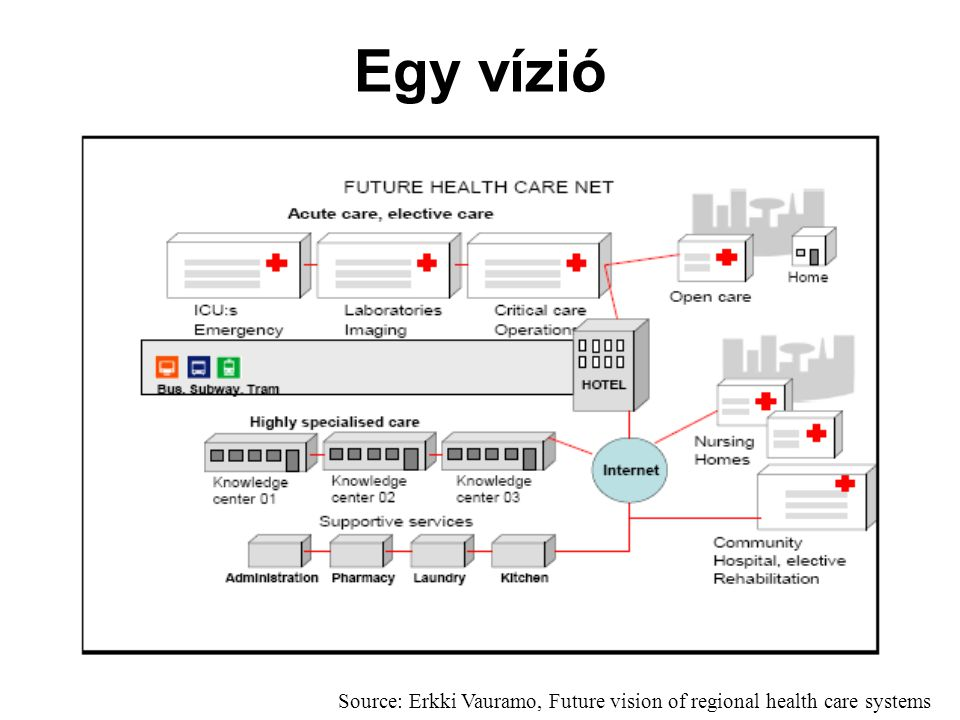 Egy vízió Source: Erkki Vauramo, Future vision of regional health care systems