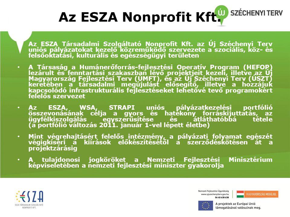 Az ESZA Nonprofit Kft.