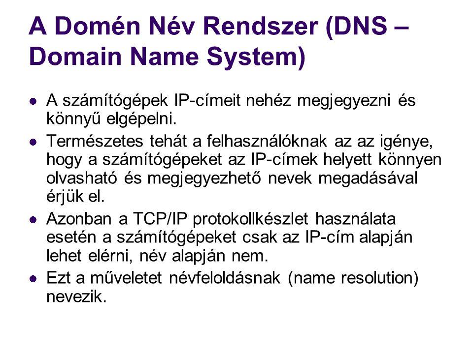A Domén Név Rendszer (DNS – Domain Name System)