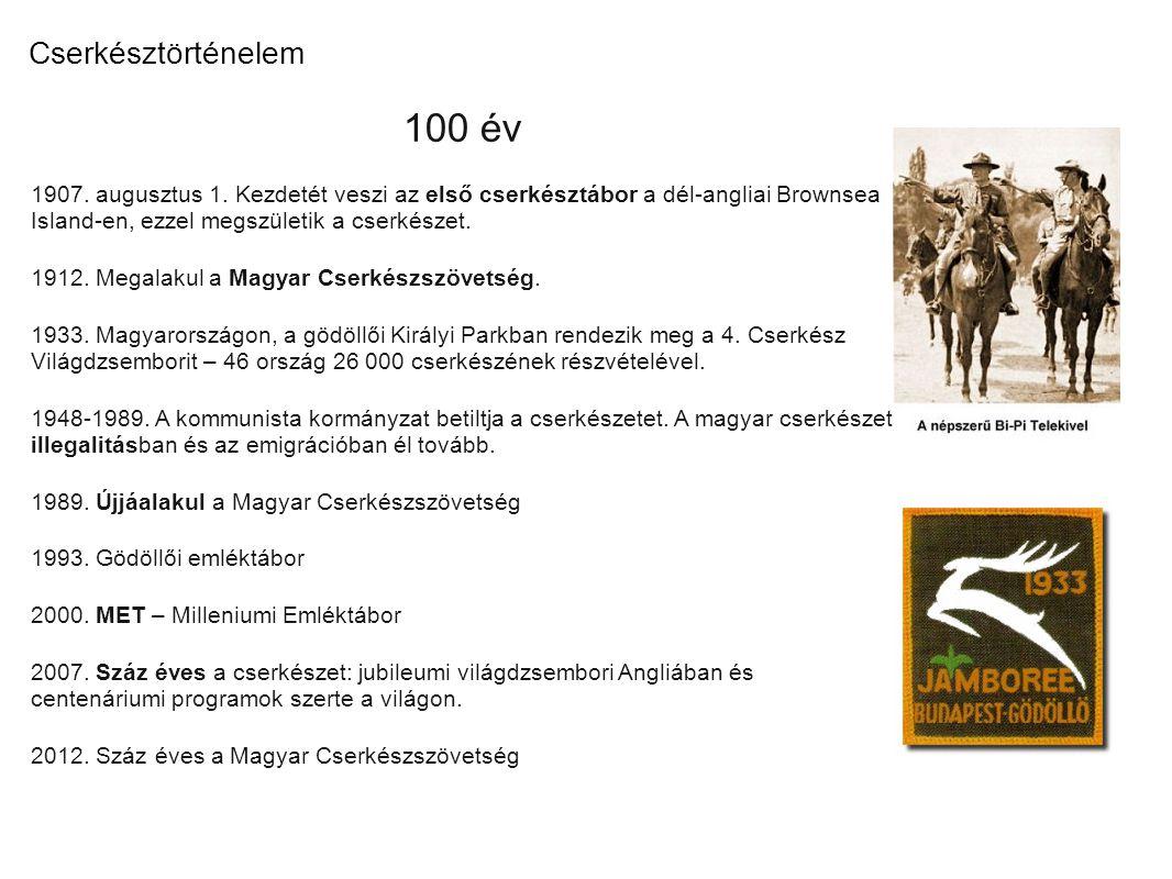 100 év Cserkésztörténelem