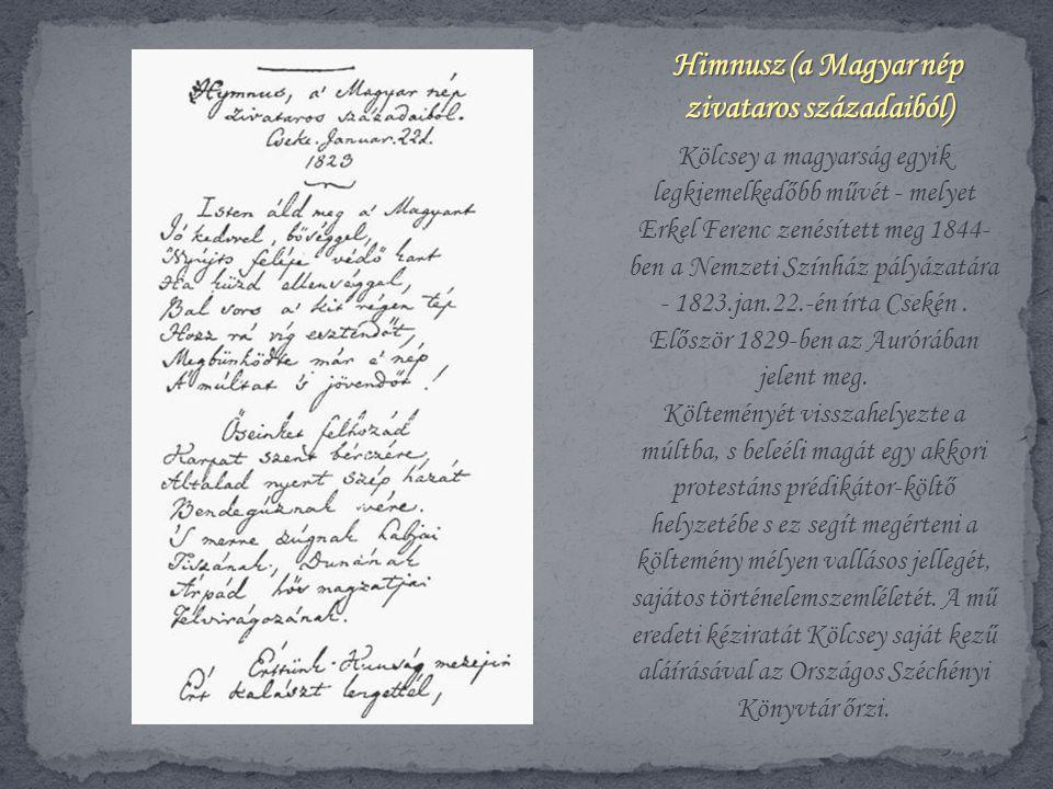 Himnusz (a Magyar nép zivataros századaiból)