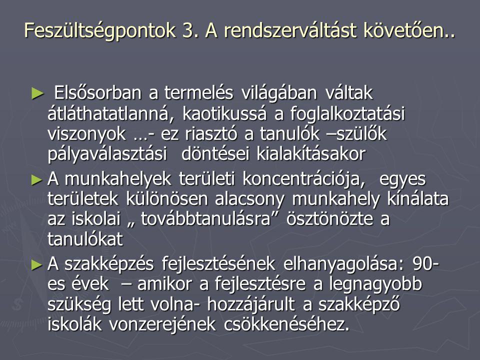 Feszültségpontok 3. A rendszerváltást követően..