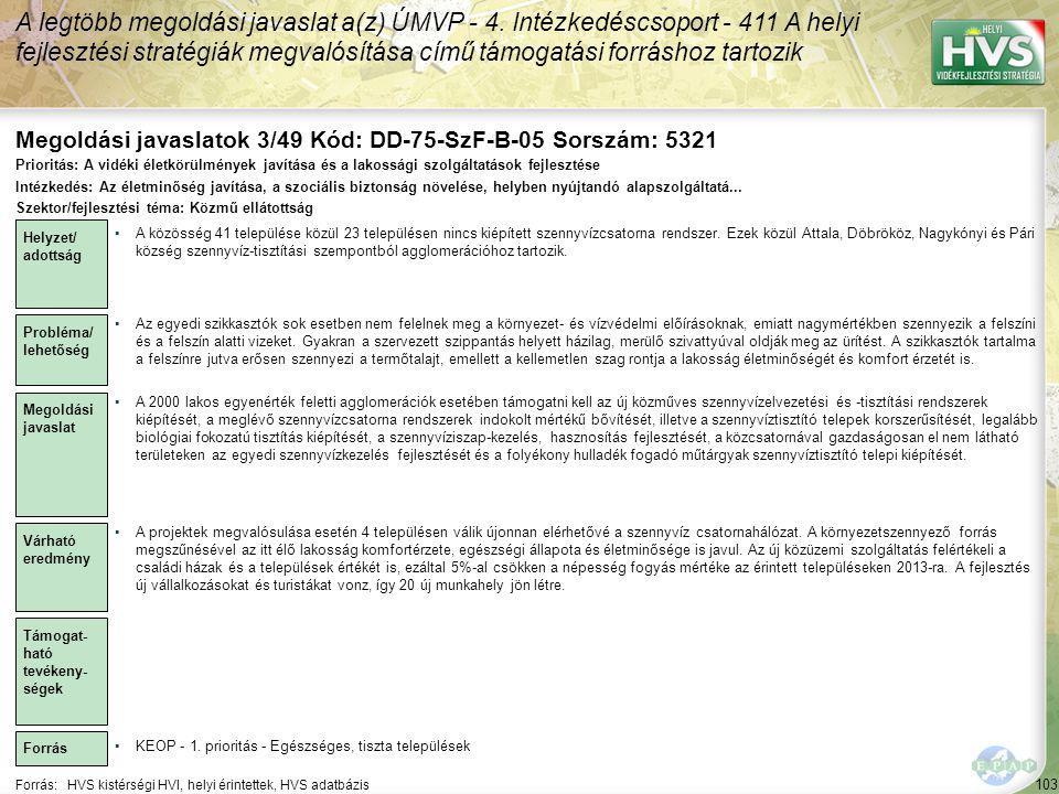 Megoldási javaslatok 3/49 Kód: DD-75-SzF-B-05 Sorszám: 5321