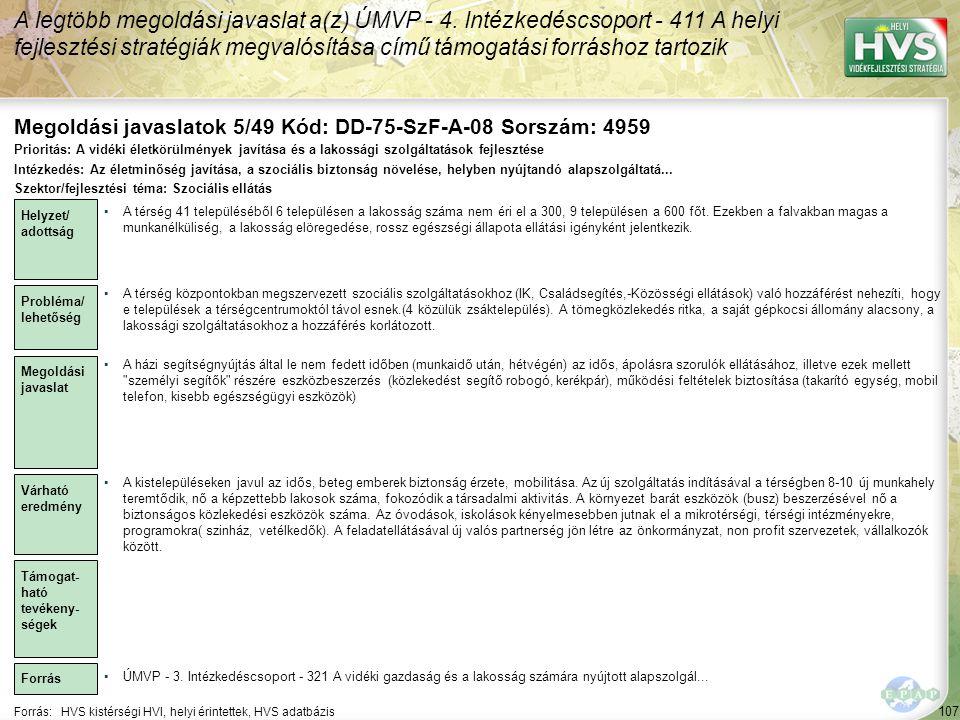 Megoldási javaslatok 5/49 Kód: DD-75-SzF-A-08 Sorszám: 4959