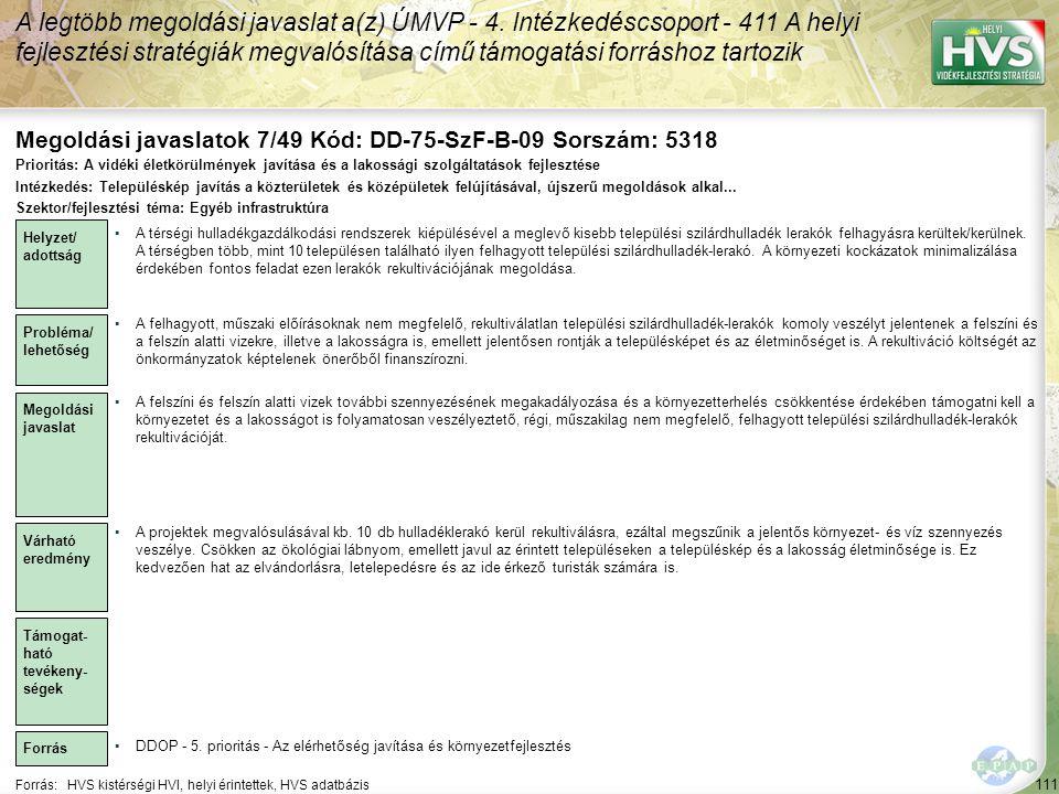 Megoldási javaslatok 7/49 Kód: DD-75-SzF-B-09 Sorszám: 5318