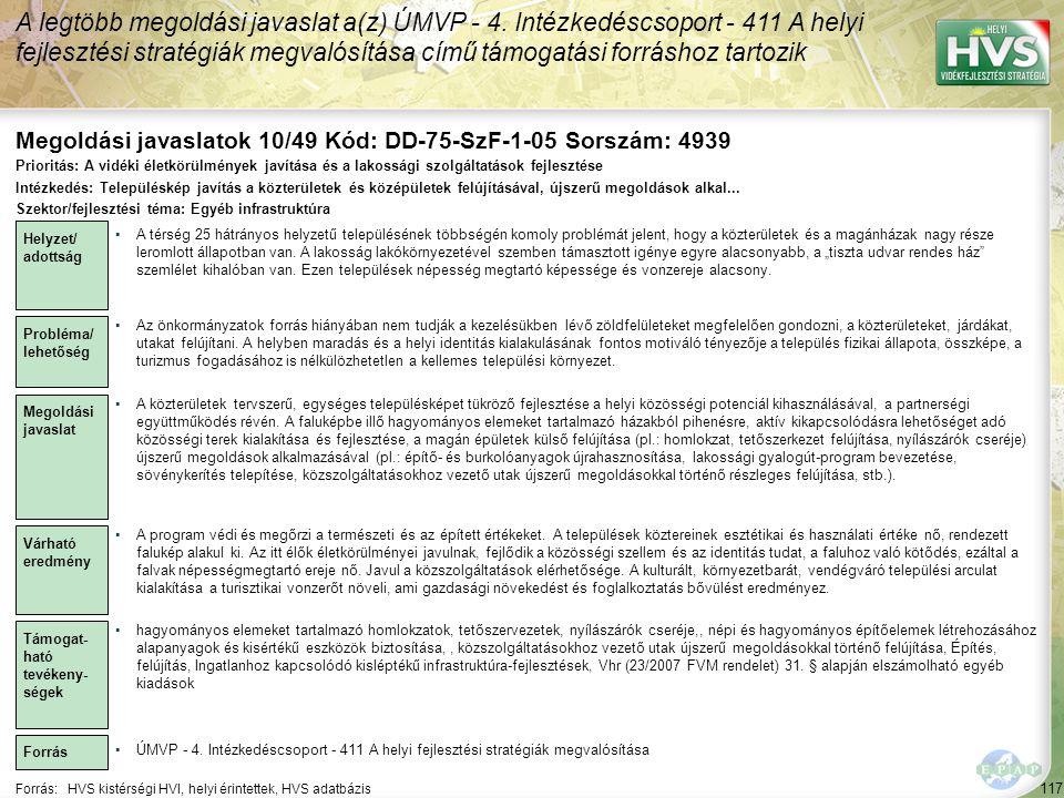 Megoldási javaslatok 10/49 Kód: DD-75-SzF-1-05 Sorszám: 4939