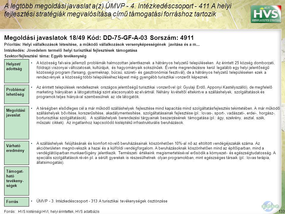 Megoldási javaslatok 18/49 Kód: DD-75-GF-A-03 Sorszám: 4911