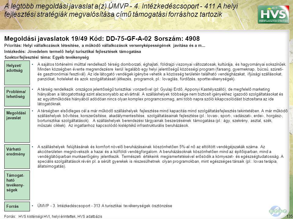 Megoldási javaslatok 19/49 Kód: DD-75-GF-A-02 Sorszám: 4908