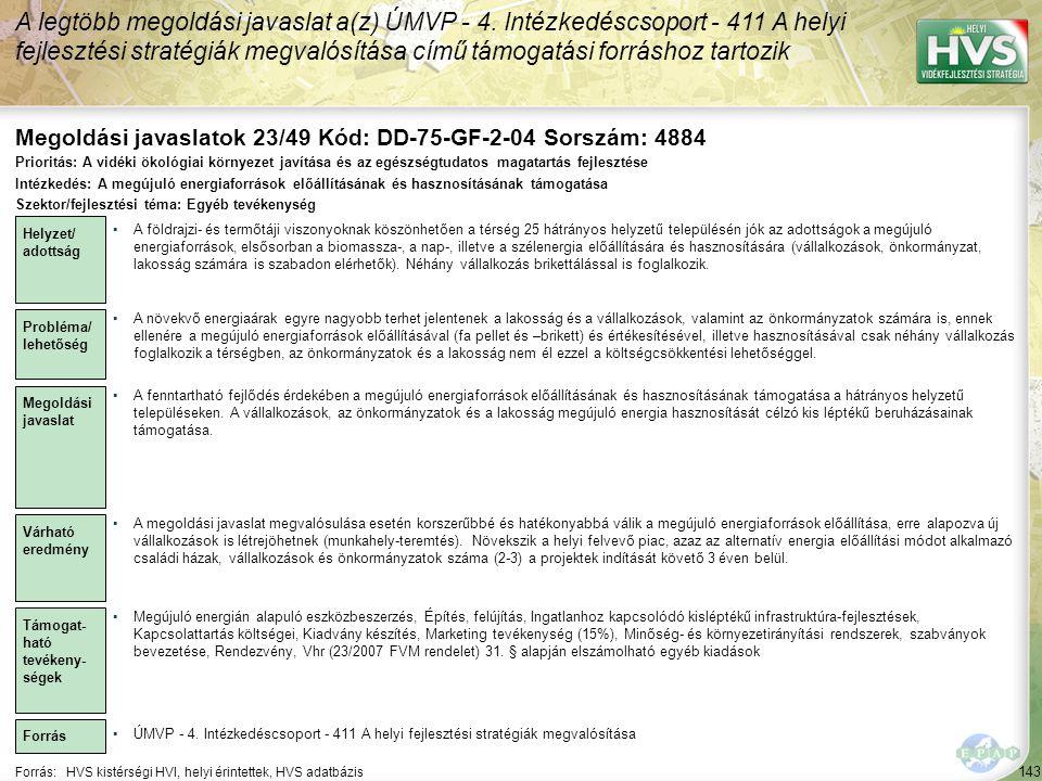 Megoldási javaslatok 23/49 Kód: DD-75-GF-2-04 Sorszám: 4884