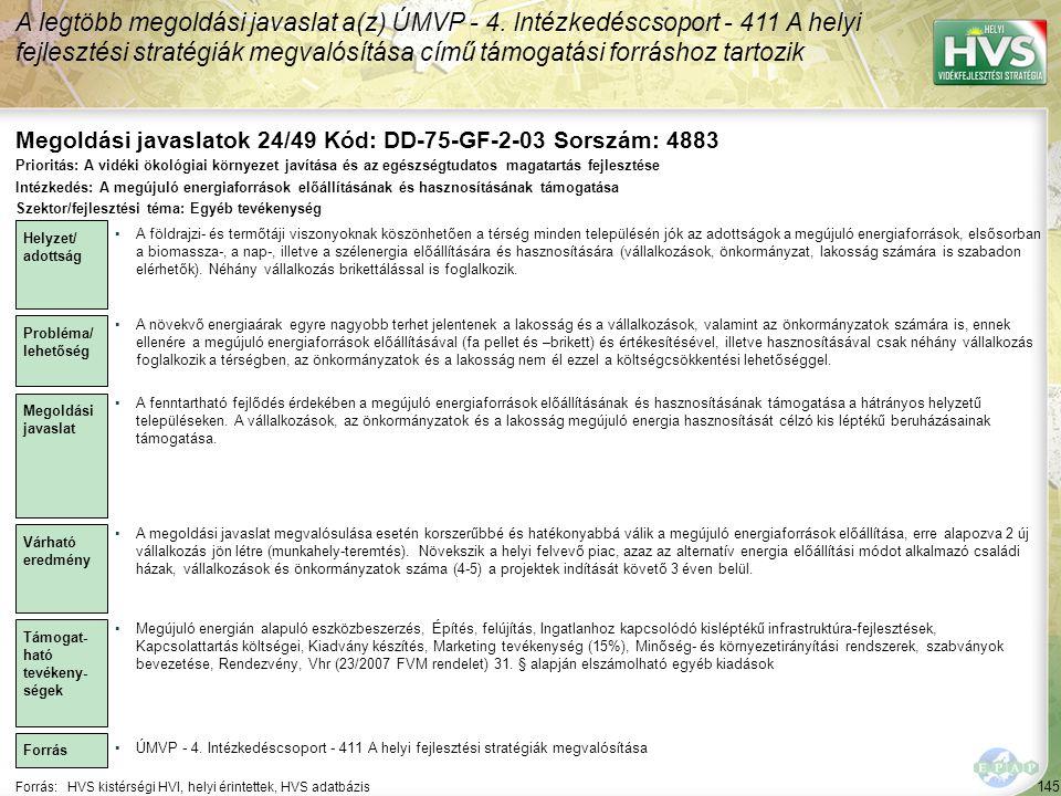 Megoldási javaslatok 24/49 Kód: DD-75-GF-2-03 Sorszám: 4883