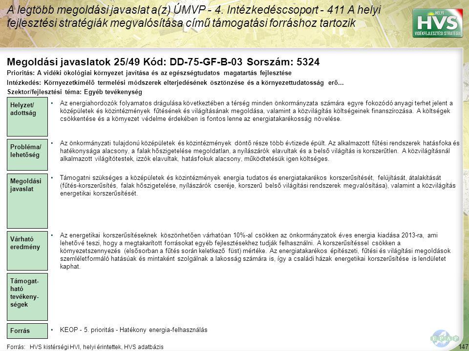 Megoldási javaslatok 25/49 Kód: DD-75-GF-B-03 Sorszám: 5324