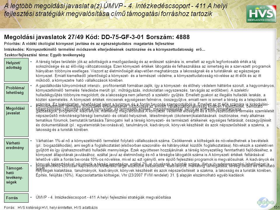 Megoldási javaslatok 27/49 Kód: DD-75-GF-3-01 Sorszám: 4888