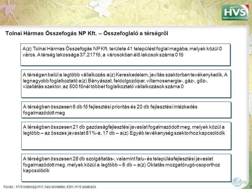 Tolnai Hármas Összefogás NP Kft. – Általános áttekintés