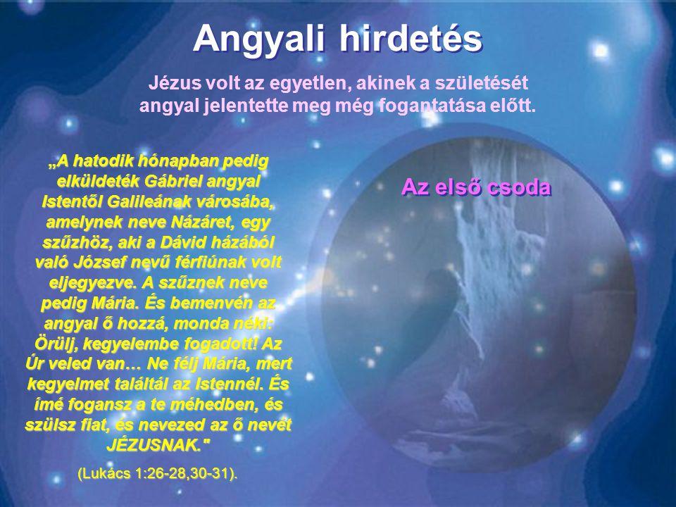 Angyali hirdetés Az első csoda