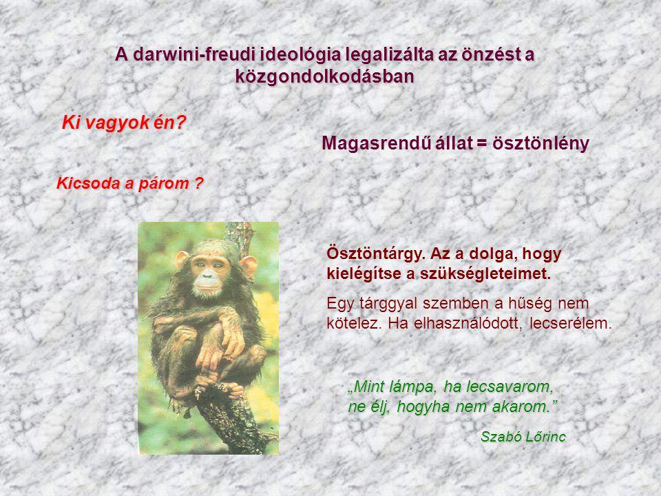 A darwini-freudi ideológia legalizálta az önzést a közgondolkodásban
