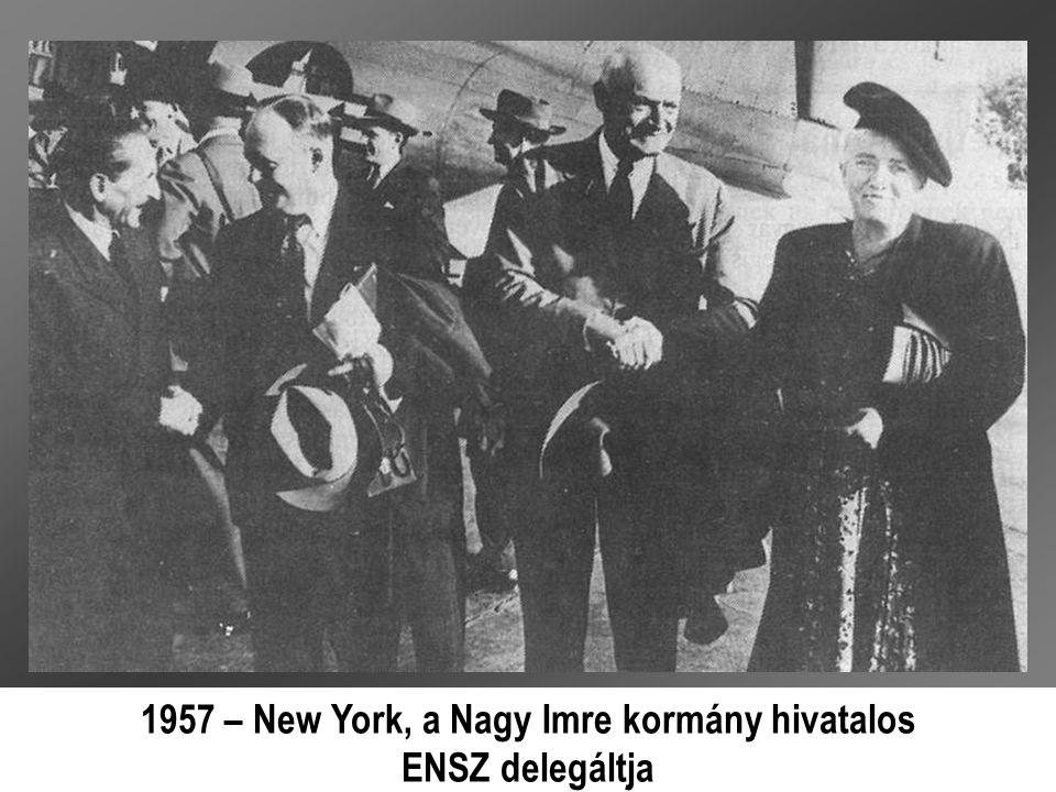 1957 – New York, a Nagy Imre kormány hivatalos