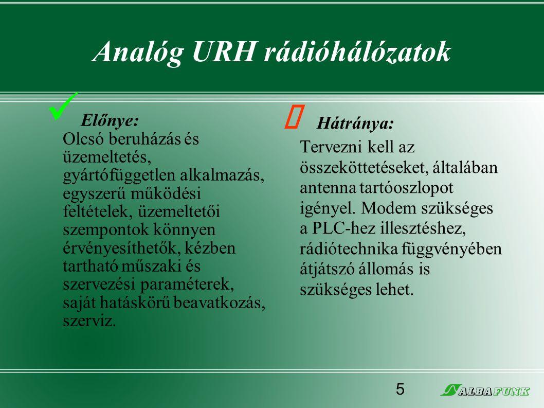 Analóg URH rádióhálózatok