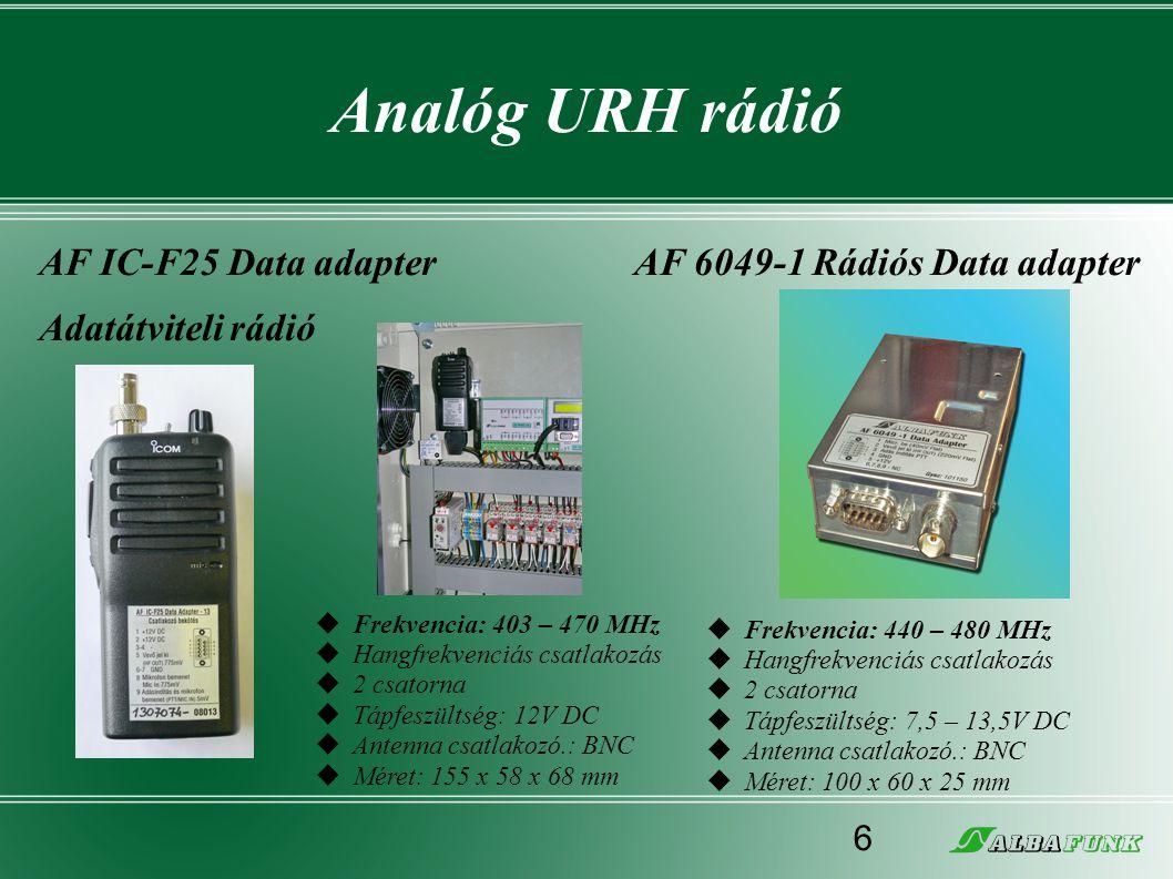Analóg URH rádió AF IC-F25 Data adapter Adatátviteli rádió