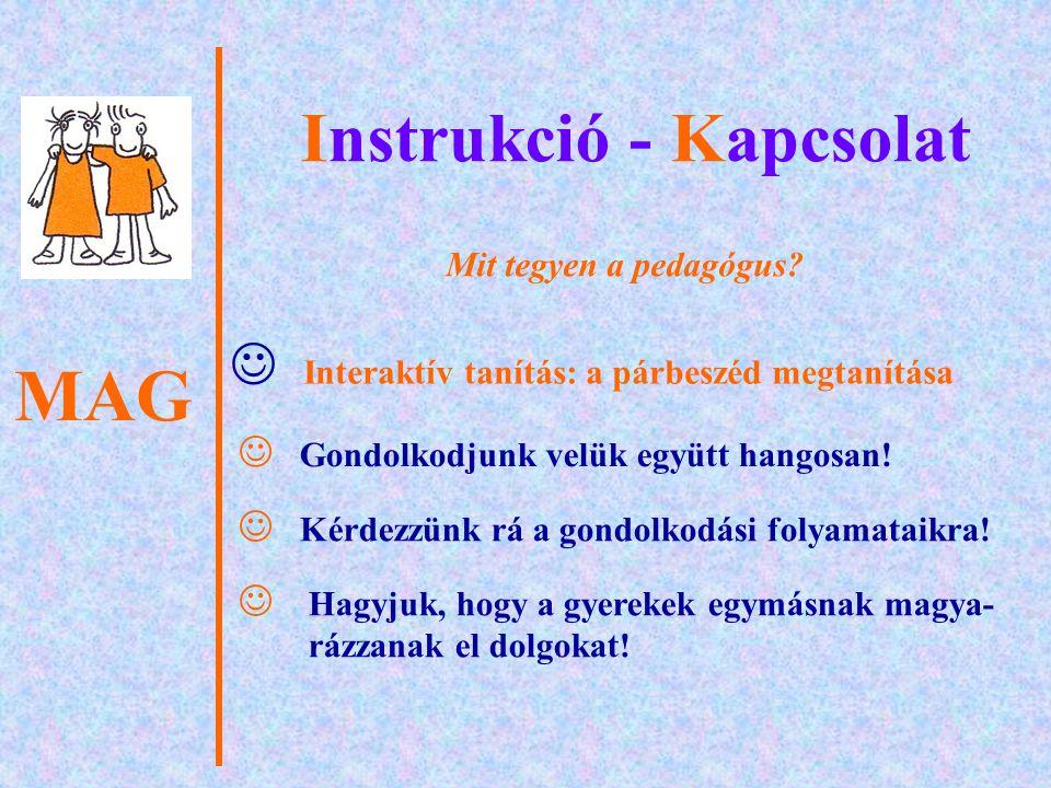 Instrukció - Kapcsolat