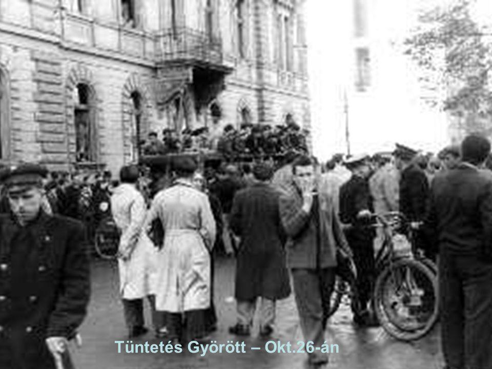 Tüntetés Györött – Okt.26-án