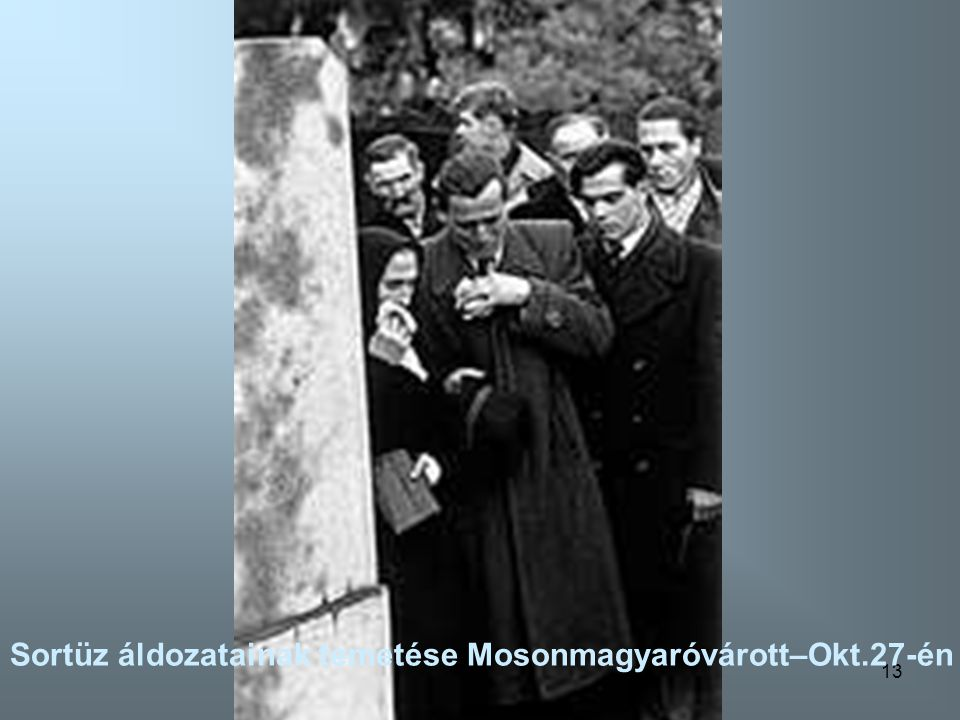 Sortüz áldozatainak temetése Mosonmagyaróvárott–Okt.27-én
