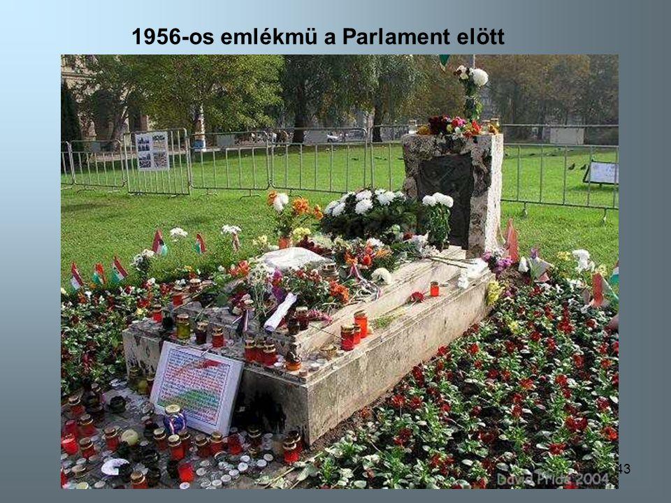1956-os emlékmü a Parlament elött