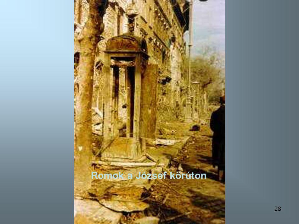 Romok a József körúton Romok a József körúton