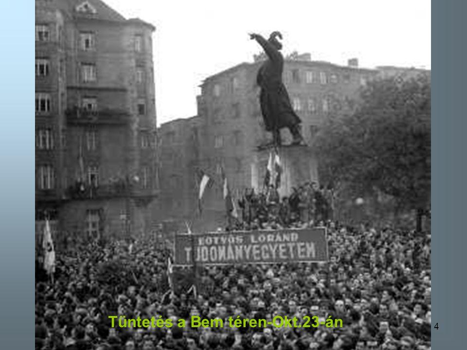 Tüntetés a Bem téren-Okt.23-án