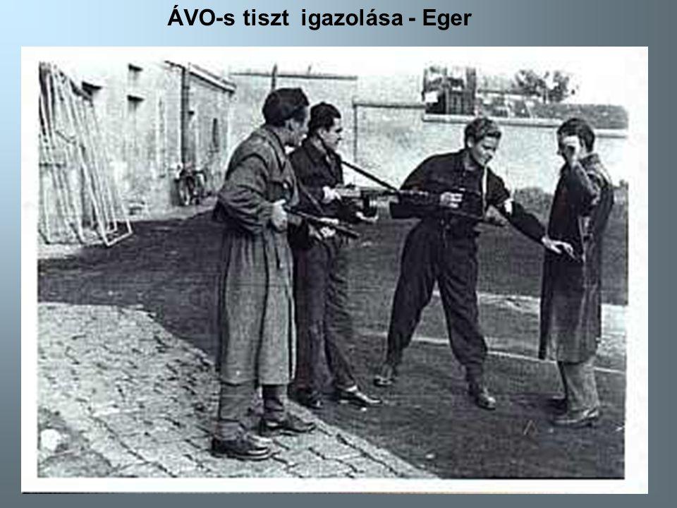 ÁVO-s tiszt igazolása - Eger