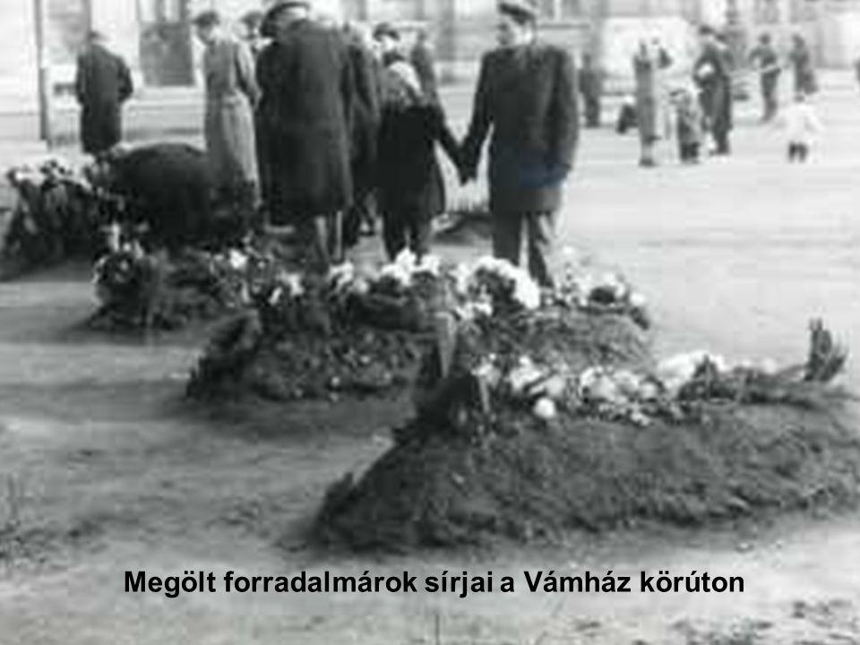 Megölt forradalmárok sírjai a Vámház körúton
