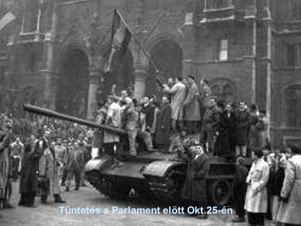 Tüntetés a Parlament elött Okt.25-én