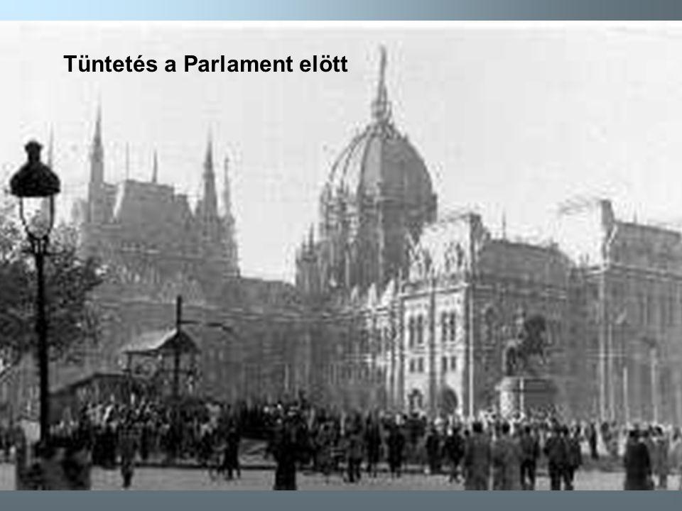 Tüntetés a Parlament elött