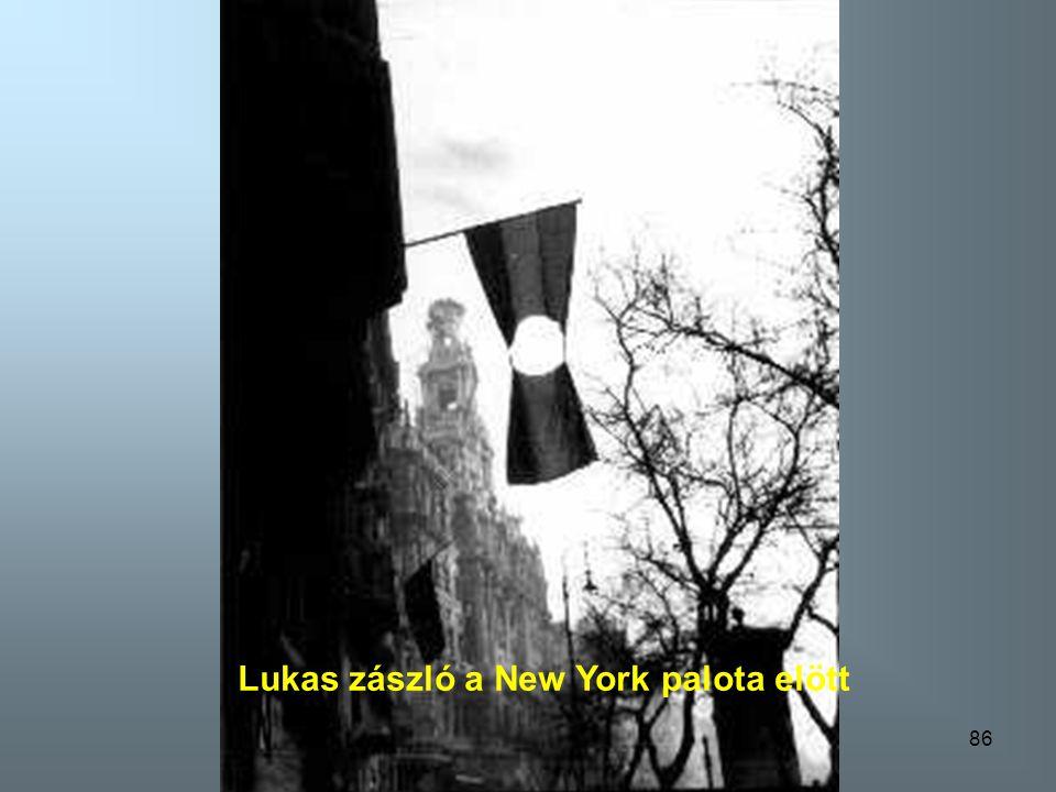 Lukas zászló a New York palota elött