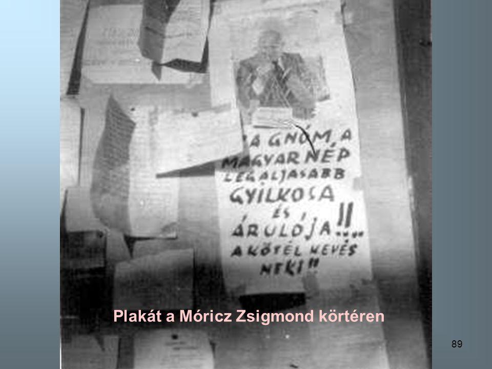 Plakát a Móricz Zsigmond körtéren