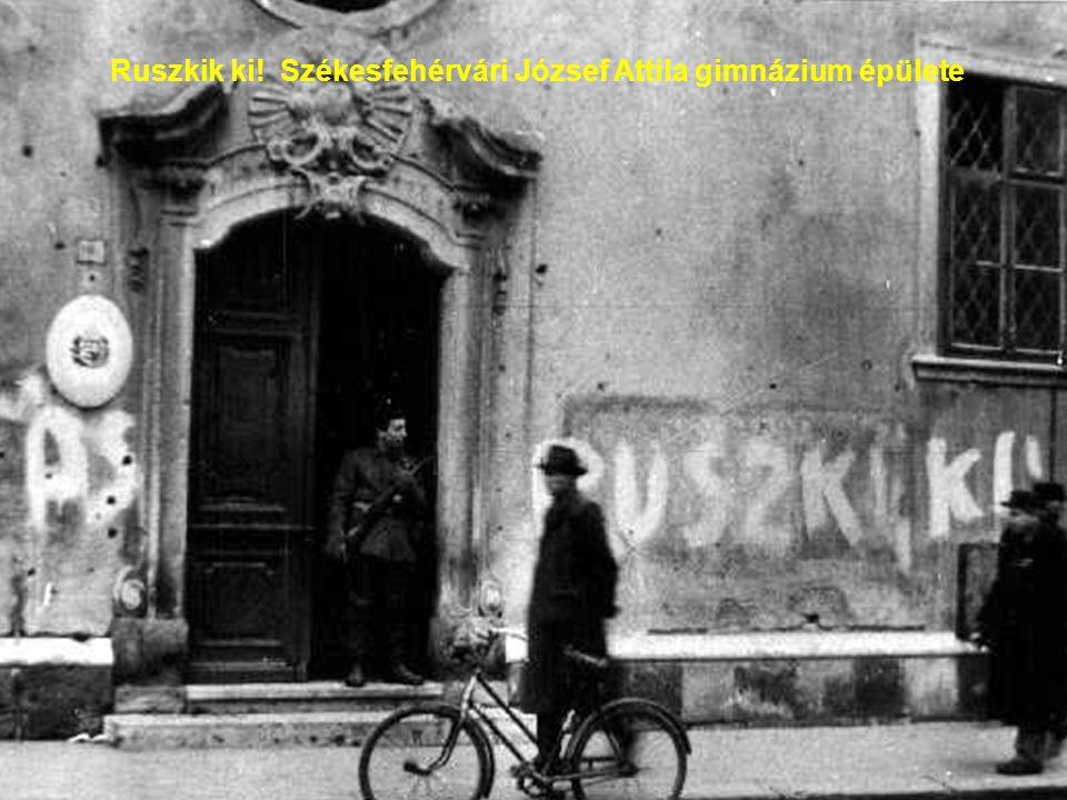 Ruszkik ki! Székesfehérvári József Attila gimnázium épülete