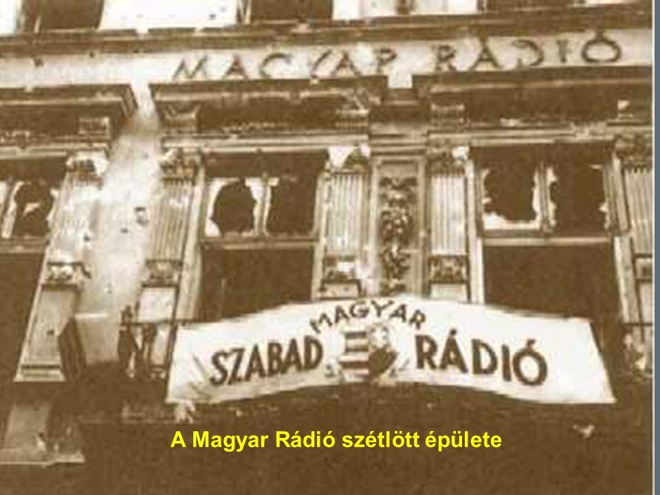A Magyar Rádió szétlött épülete