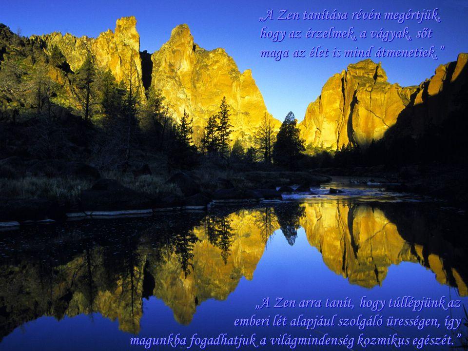"""""""A Zen tanítása révén megértjük, hogy az érzelmek, a vágyak, sőt maga az élet is mind átmenetiek."""