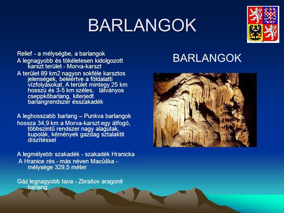 BARLANGOK BARLANGOK Relief - a mélységbe, a barlangok