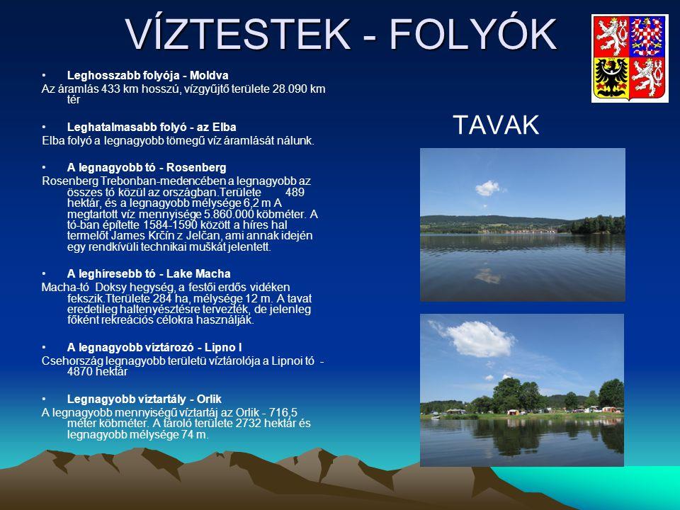 VÍZTESTEK - FOLYÓK TAVAK Leghosszabb folyója - Moldva