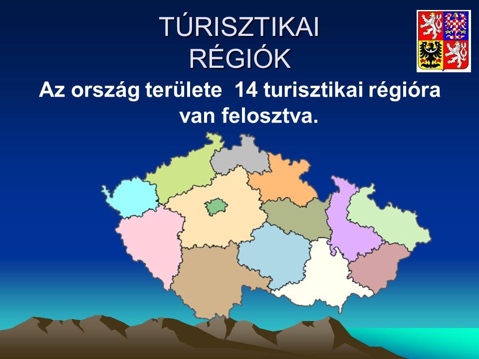 Az ország területe 14 turisztikai régióra van felosztva.