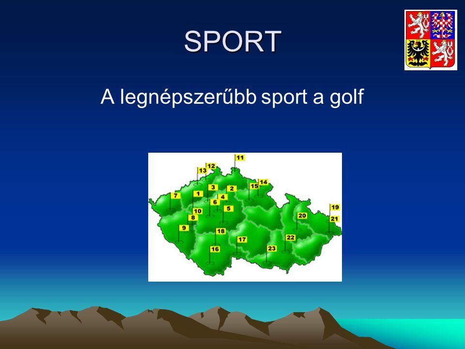 A legnépszerűbb sport a golf