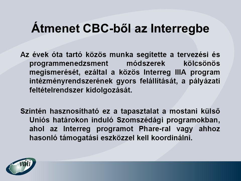 Átmenet CBC-ből az Interregbe