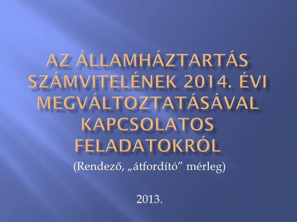 """(Rendező, """"átfordító mérleg) 2013."""